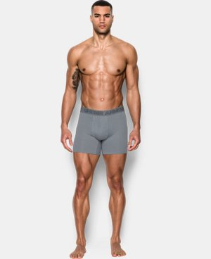 "Best Seller Men's Charged Cotton® Stretch 6"" Boxerjock® 3-Pack  5 Colors $40"