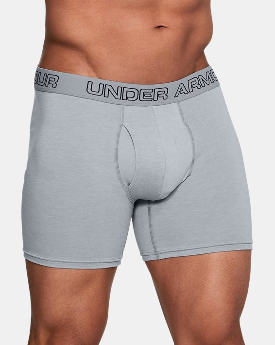"Men's Charged Cotton® Stretch 6"" Boxerjock® - 3-Pack, Gray, pdpMainDesktop image number 0"