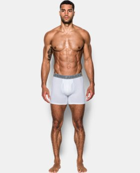 "Best Seller Men's Charged Cotton® Stretch 6"" Boxerjock® – 3-Pack  1 Color $40"
