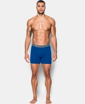 "Men's Charged Cotton® Stretch 6"" Boxerjock® 3-Pack  2 Colors $40"