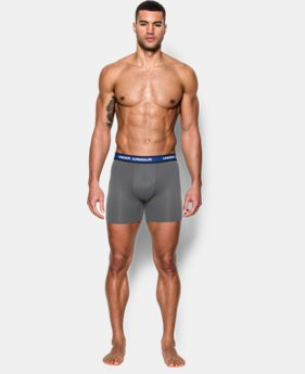 "New Arrival Men's UA Mesh Performance 6"" Boxerjock® 2-Pack  1 Color $40"