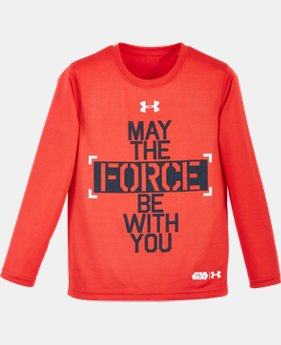 Boys' Pre-School Star Wars Force Be With You UA Long Sleeve
