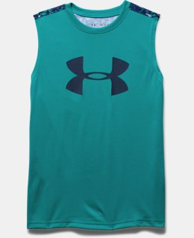 Boys' UA Tech™ Big Logo Novelty Sleeveless T-Shirt