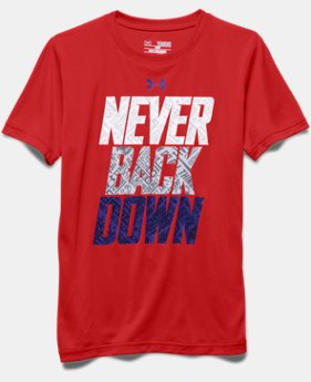 Boys' UA Never Back Down T-Shirt