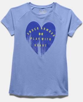 Girls' UA Play With Heart Short Sleeve