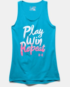 Girls' UA Play Win Repeat Tank