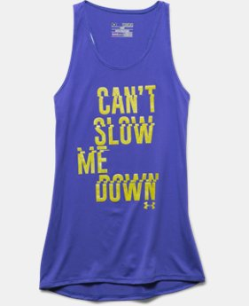 Girls' UA Can't Slow Me Down Tank