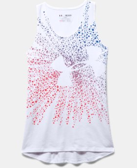 Girls' UA Shooting Star Big Logo Tank