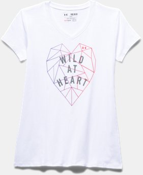 Girls' UA Wild At Heart V-Neck Short Sleeve