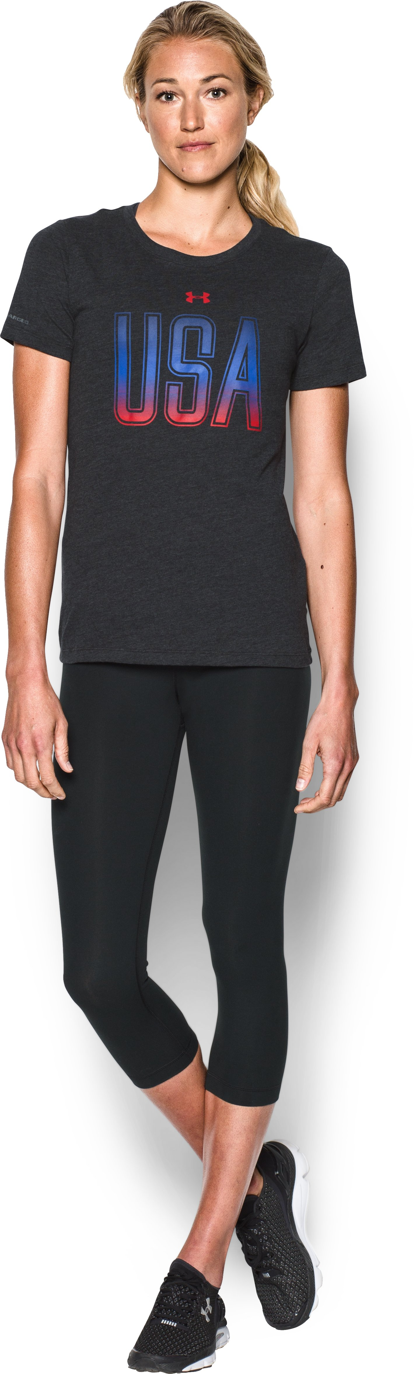 Women's UA Memorial Day Tee, Black , Front