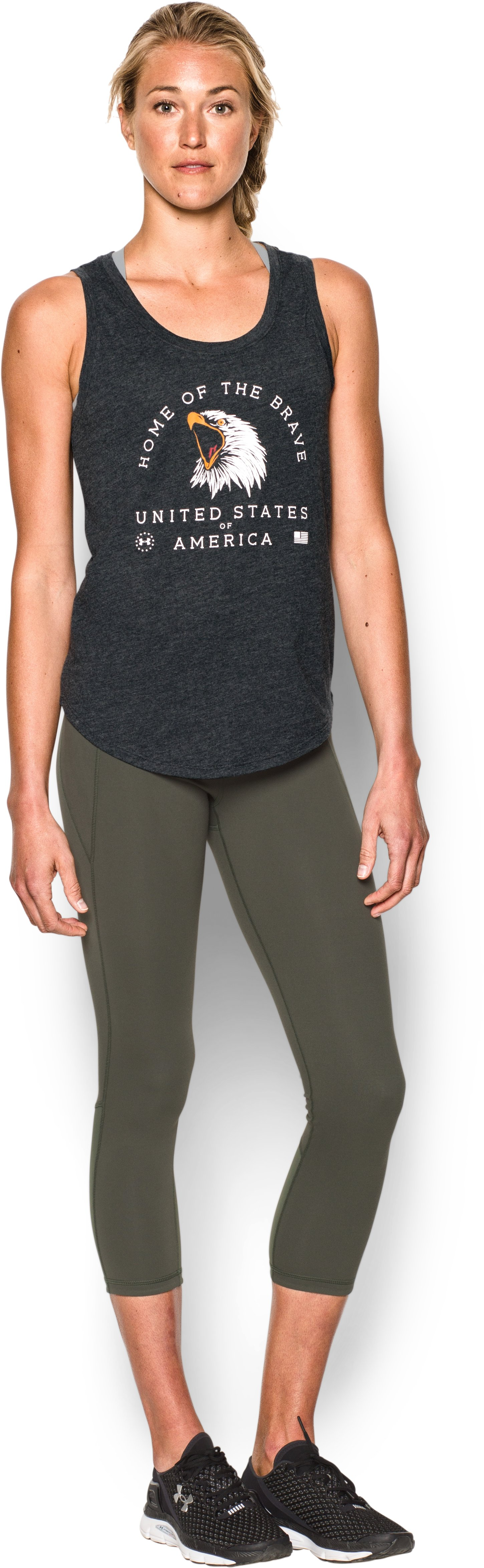 Women's UA Memorial Day Tank, Black , Front