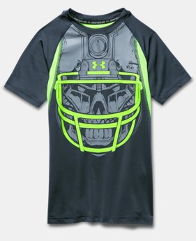 Boys' UA Inline Football Fitted Short Sleeve