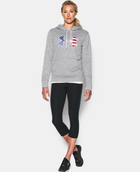Women's UA Armour® Fleece Big Flag Logo Hoodie  1 Color $54.99