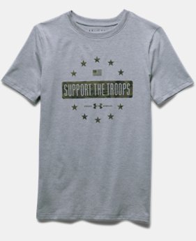 Boys' UA Freedom Support The Troops T-Shirt