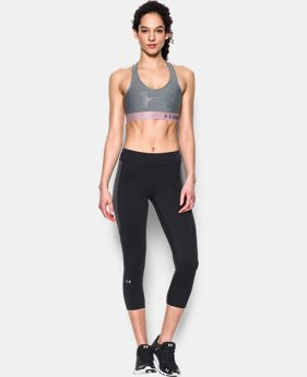 Women's UA Armour Mid Bra-Graphic