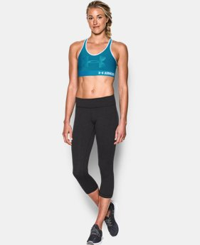Women's UA Armour Mid Bra-Graphic LIMITED TIME: FREE SHIPPING 1 Color $34.99