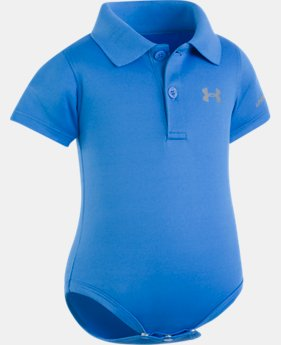Best Seller Boys' Newborn UA Polo Bodysuit  1  Color Available $19.99 to $20
