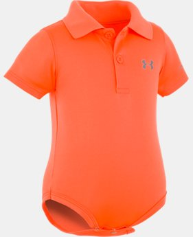 Best Seller Boys' Newborn UA Polo Bodysuit  4  Colors $19.99 to $20