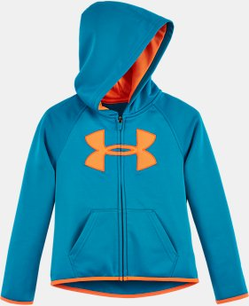 Girls' Pre-School UA Armour® Fleece City Lights Big Logo Hoodie