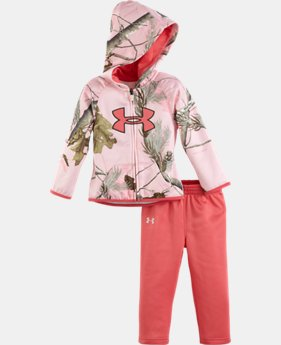 Girls' Newborn UA Real Tree Hoodie Set