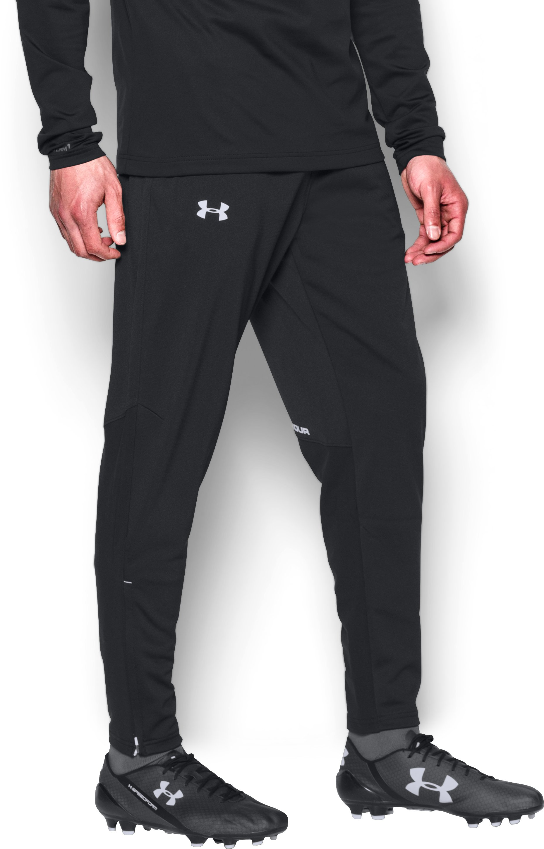 Men's UA Challenger Knit Warm-Up Pants, Black ,