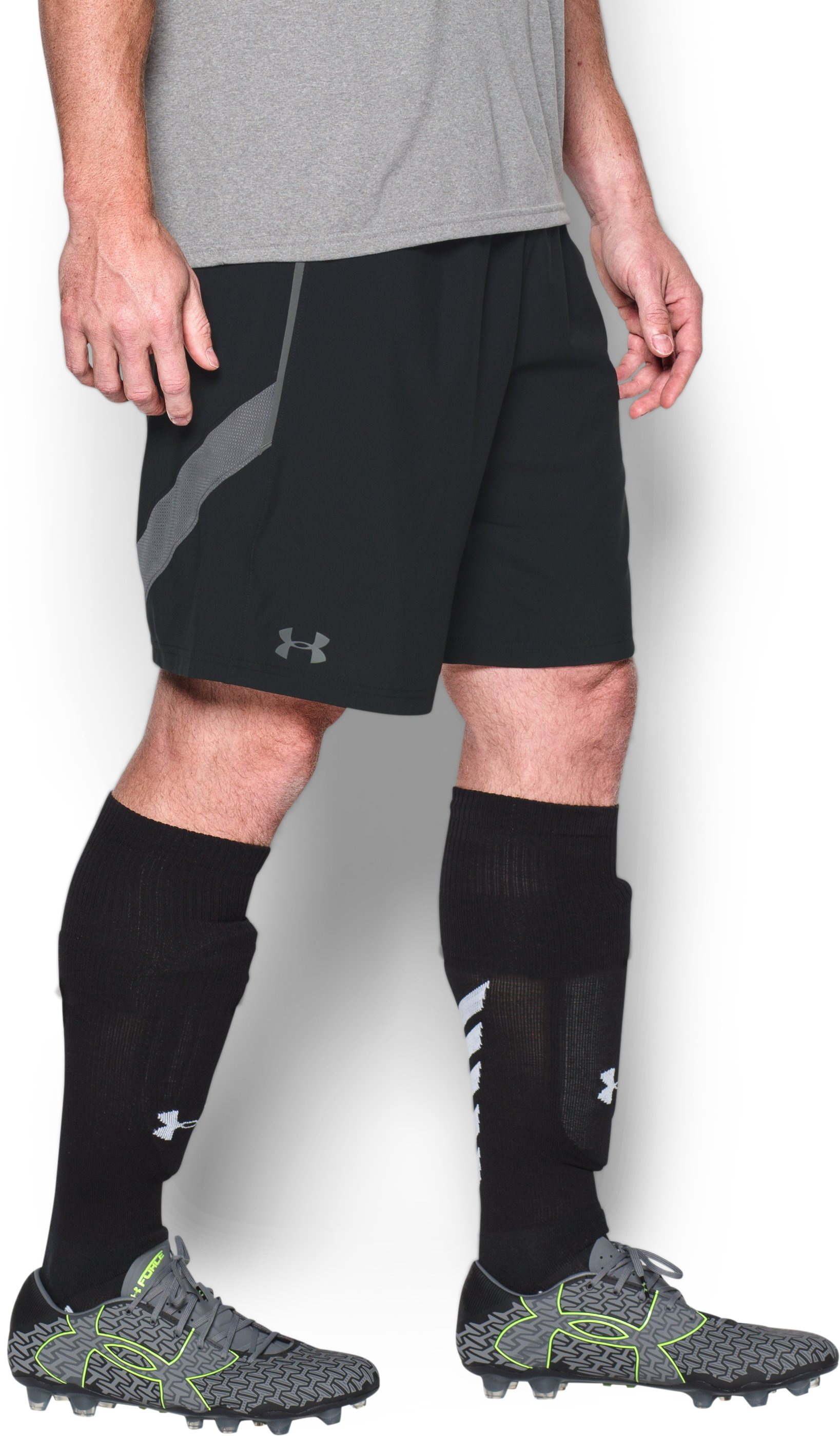 Men's UA Pitch Woven Shorts, Black