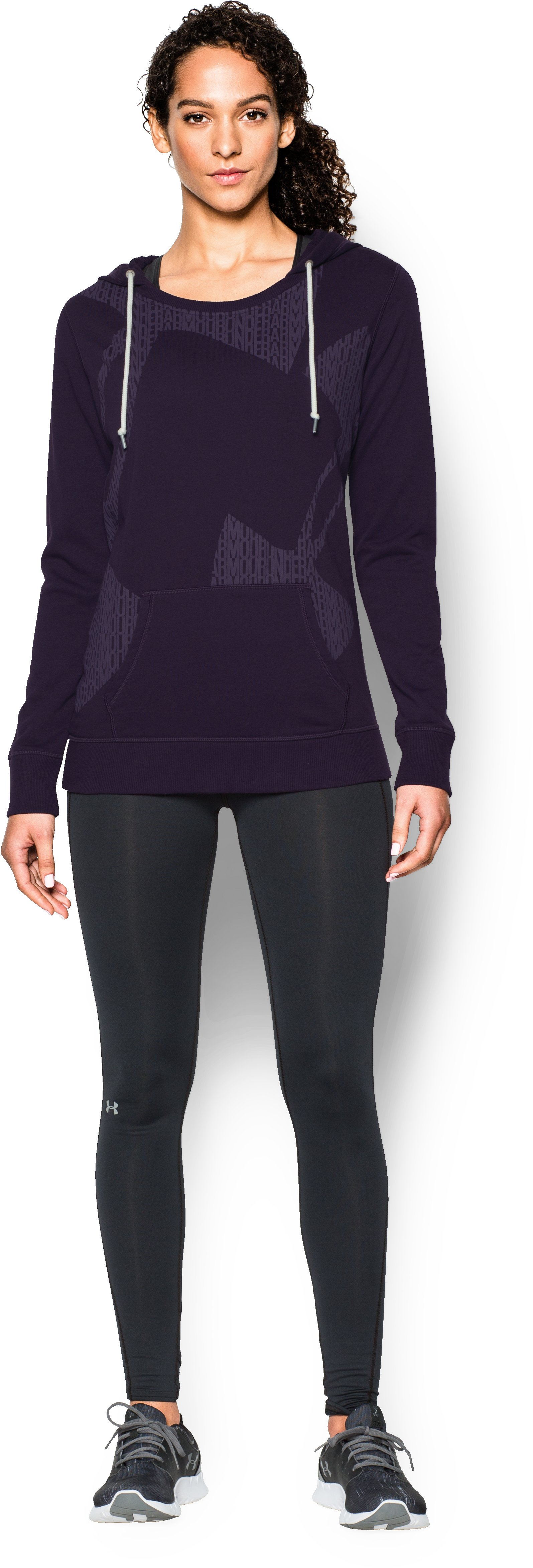 Women's UA Favorite French Terry Popover, EGGPLANT PURPLE, zoomed image