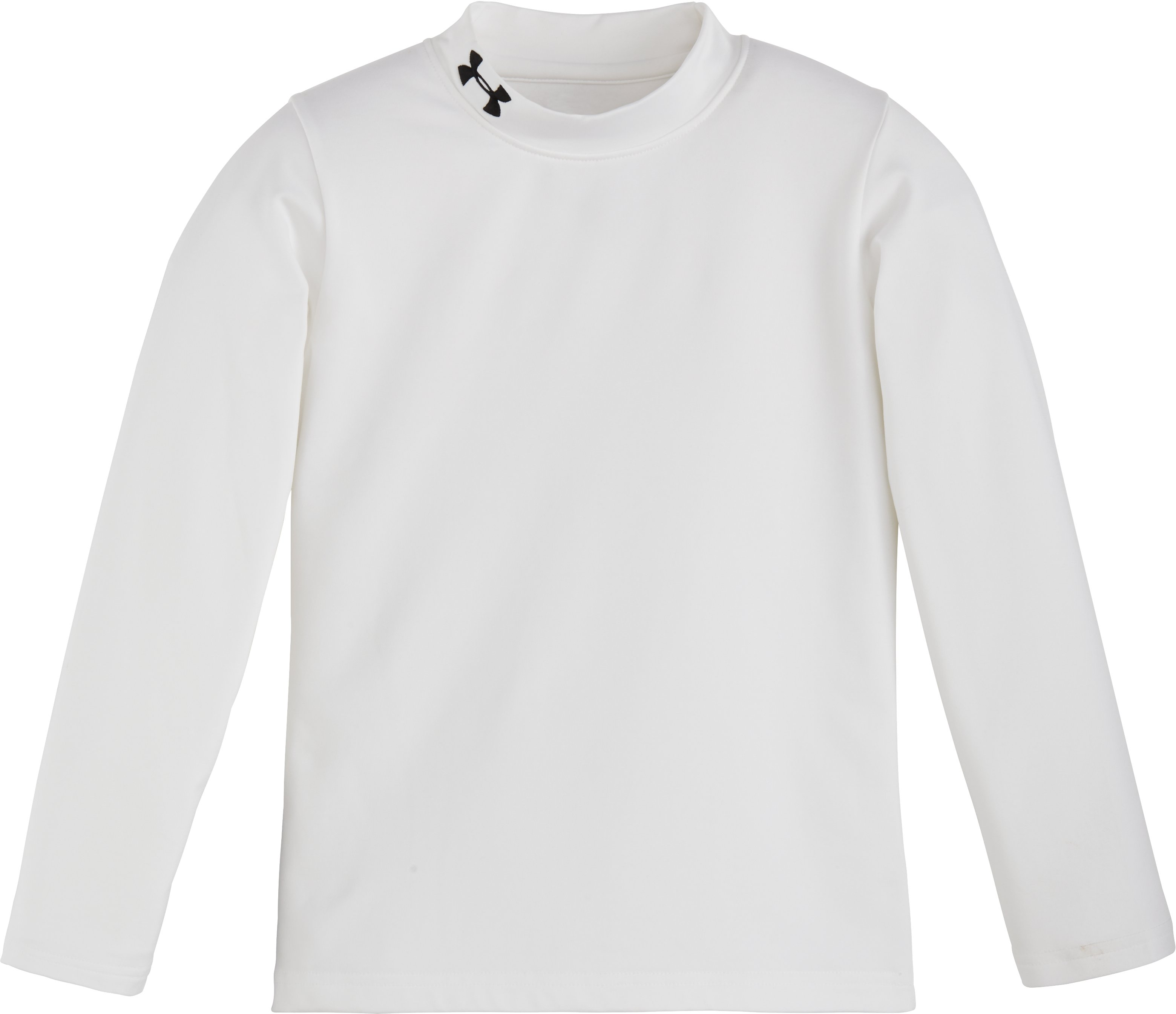 Boys' Pre-School UA Fitted Mock Neck , White
