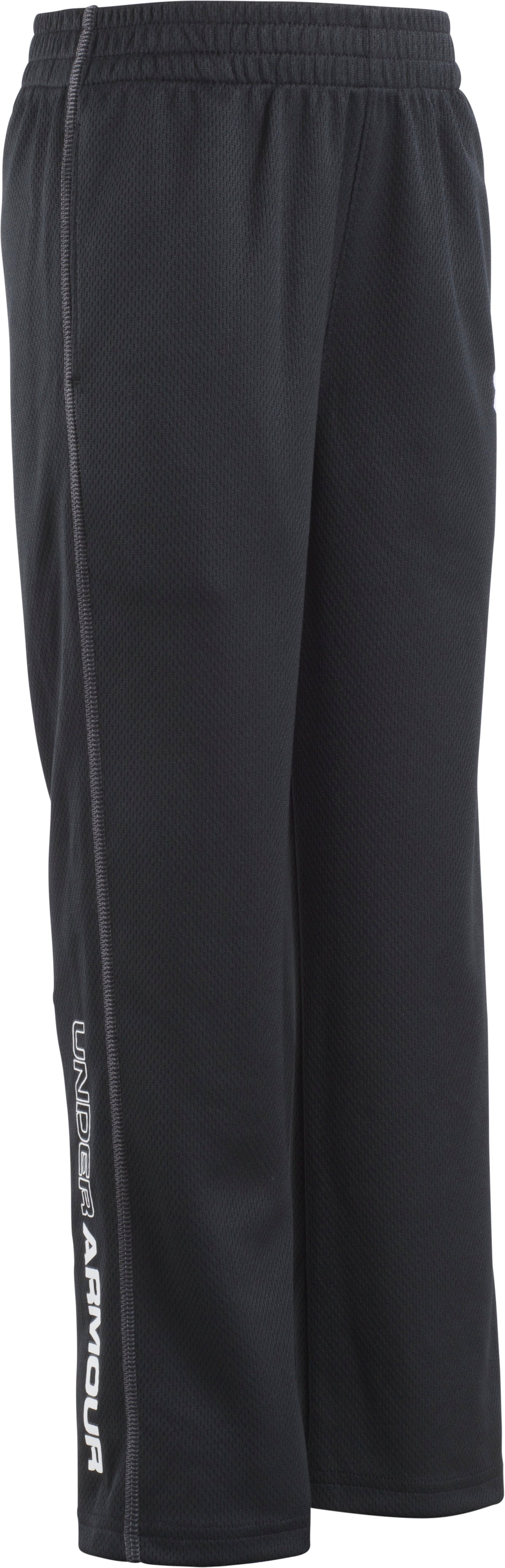 Boys' Pre-School UA Root Pants, Black , Laydown