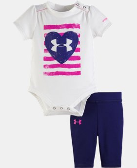 Girls' Newborn UA America Bodysuit Set