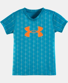 Girls' Pre-School UA Shimmer Maze Big Logo Short Sleeve