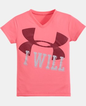 Girls' Pre-School UA I WILL Short Sleeve
