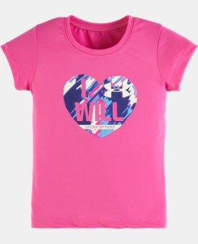 Girls' Toddler UA Hearted Short Sleeve