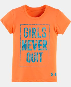 Girls' Pre-School UA Girls Never Quit T-Shirt