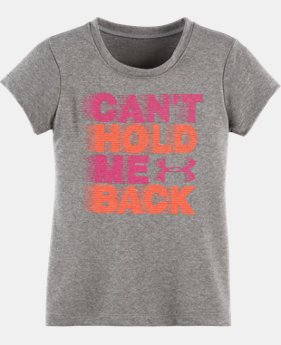 Girls' Toddler UA Can't Hold Me Back Short Sleeve