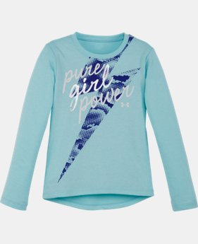 Girls' Pre-School UA Charged Cotton® Tri-Blend Pure Girl Power Long Sleeve