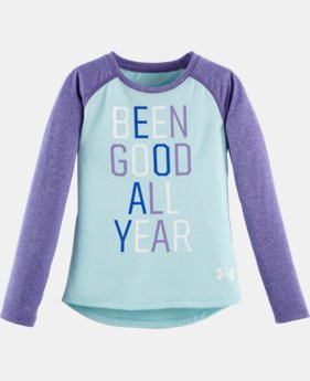 Girls' Pre-School UA Been Good All Year Long Sleeve