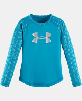 Girls' Pre-School UA Maze Grid Raglan Long Sleeve