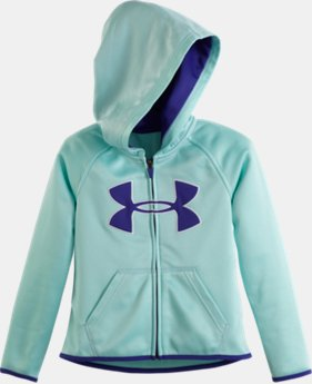 Girls' Pre-School UA Armour® Fleece Big Logo Hoodie