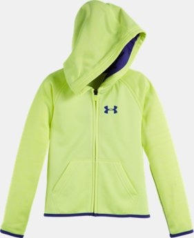 Girls' Pre-School UA Armour® Fleece Wordmark Twist Hoodie