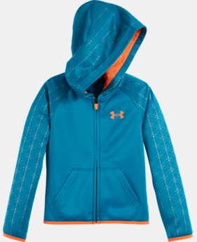 Girls' Pre-School UA Armour® Fleece Maze Grid Hoodie