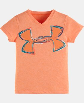 Girls' Pre-School UA Neon Logo Short Sleeve