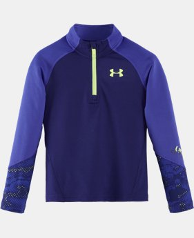 Girls' Toddler UA Jersey ¼ Zip