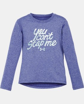 Girls' Pre-School UA Can't Stop Me Long Sleeve