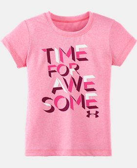 Girls' Toddler UA Time For Awesome Short Sleeve