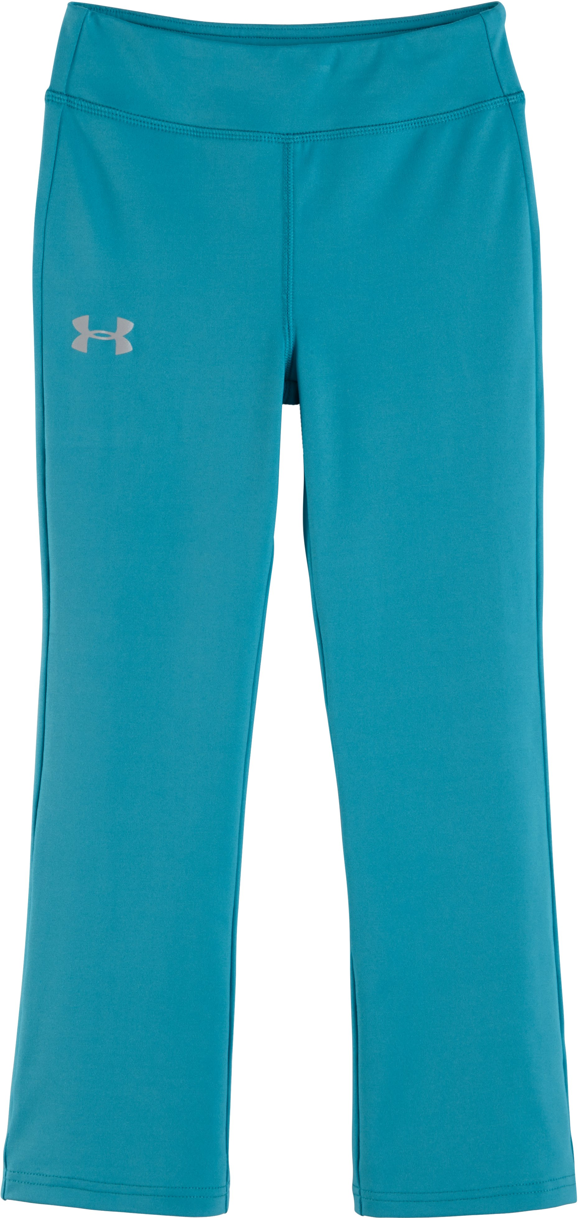 Girls' Toddler UA Yoga Pants, Pacific, Laydown