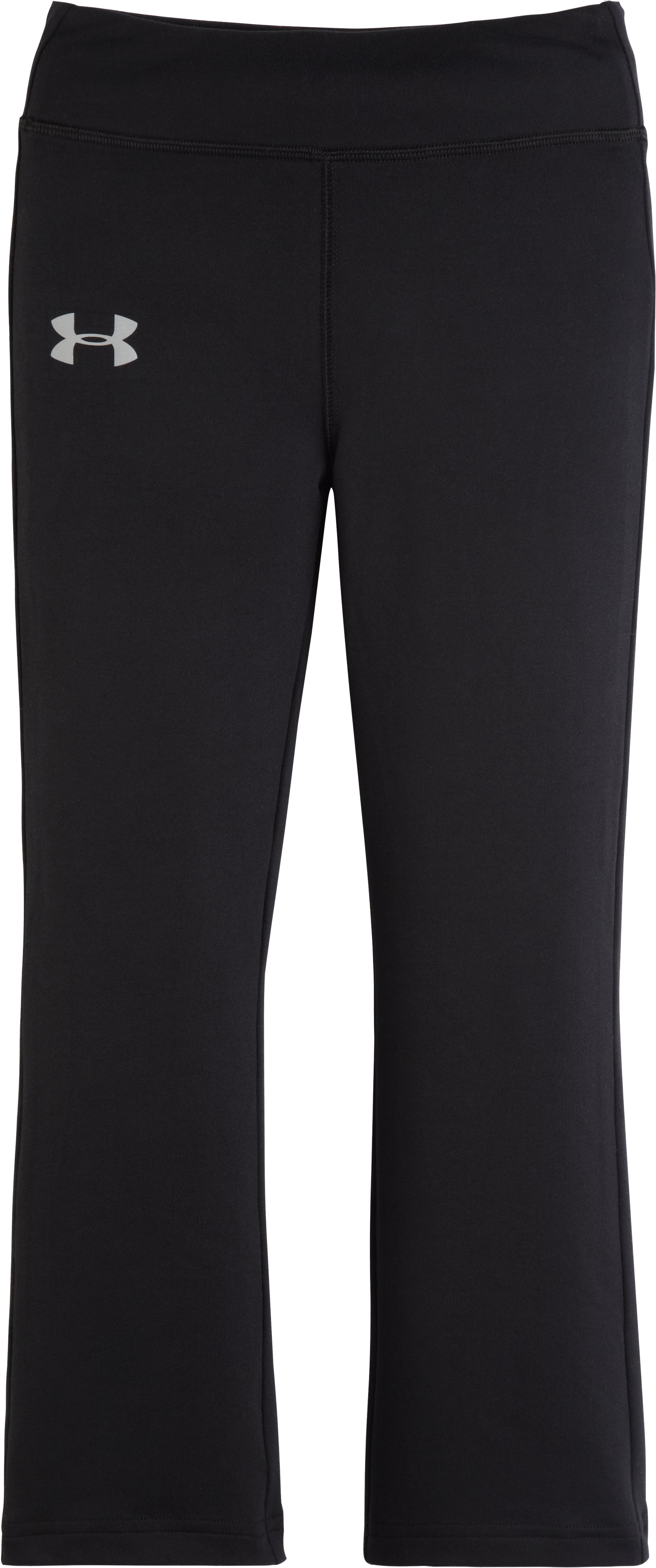 Girls' Pre-School UA Yoga Pants, Black , Laydown