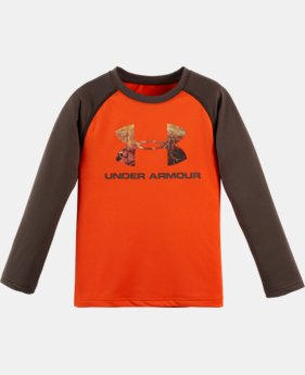 Boys' Toddler UA Hunt Big Logo Raglan Long Sleeve