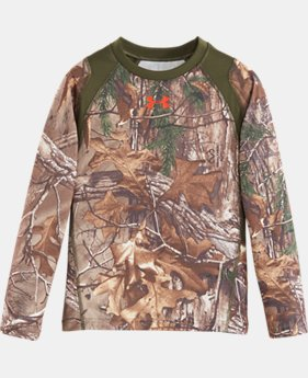 Boys' Pre-School UA Real Tree Predator Long Sleeve