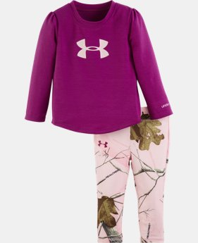 Girls' Toddler UA Big Logo Real Tree Legging Set